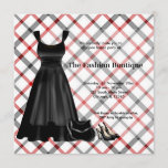 Grand Opening Fashion business (Black) Invitation