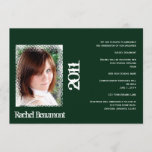 Green and White Grunge Graduation Announcement