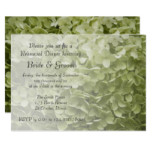 Green Annabelle Hydrangea Wedding Rehearsal Dinner Card