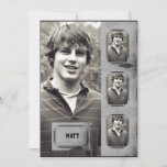 Grunge Border Photo Panel Graduation Announcement