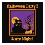 Haunted House Halloween Party Invitation black