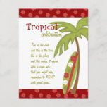 Hibiscus Surfboard Invitation