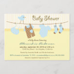 It's a Boy! Clothesline Baby Shower Invitation