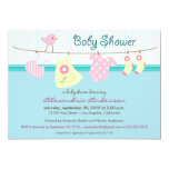 It's a Girl! Clothesline Baby Shower Invitation