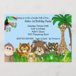 Jungle Safari Fun Birthay Party Invitation