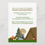 Kids Camp Out Birthday Party Invitations