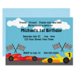 Kids Racing Birthday Party Invitation