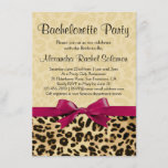 Leopard Print Pink Bachelorette Party Invitation