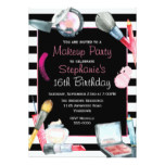 Makeup Birthday Party Invitation