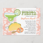 Margarita Fiesta Bridal Shower Invitations Pink