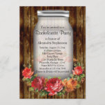 Mason Jar Vintage Country Bachelorette Party Invitation