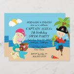 Mermaids and Pirates Birthday Party Invitation