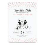 Mickey & Minnie | Pink Confetti Save the Date Invitation