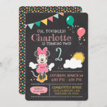 Minnie Mouse Birthday Chalkboard Invitation