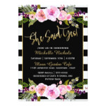 Modern Watercolor Bouquet Bridal Shower Card
