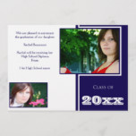 Modern White and Blue Graduation Announcement