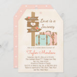 Monogram Traveling from Miss to Mrs Bridal Shower Invitation