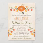 Monogrammed Pumpkin Fall Couples Wedding Shower Invitation