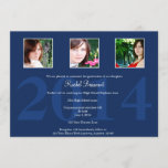 Navy Blue Photo Graduation Announcement