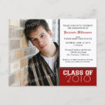 Pick-Your-Own-Color (for dark colors) Graduation Invitation Postcard