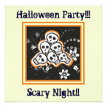 Pile of cute skulls Halloween custom products Card