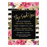 Pink Floral Watercolor Bouquet Bridal Shower Card