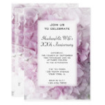 Pink Hydrangea Wedding Anniversary Party Invite