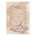 Pink Roses High Heel Shoe Bridal Shower Card