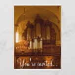 Pipe Organ invitation