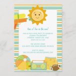 Pool Party Birthday Celebration Invitations