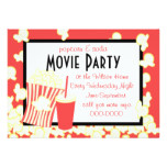 Popcorn and Soda Invitation