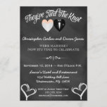 Post Wedding Trendy Chalkboard Invitation