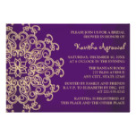 Purple and Gold Indian Inspired Bridal Shower Invitation