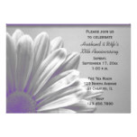 Purple Floral Highlights Wedding Anniversary Party Card