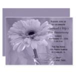 Purple Tinted Daisy Wedding Anniversary Party Card