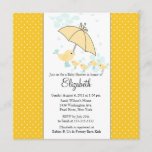 QUADS Mom & Baby Bird Baby Shower Invitation