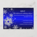 Royal Blue Pearl Snowflake Christmas Party RSVP