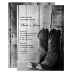 Rustic Cowboy Boots Country Western Wedding Invite