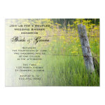 Rustic Fence Post Country Couples Wedding Shower Invitation