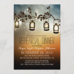 rustic garden lights - lanterns rehearsal dinner invitation