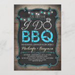 rustic I do BBQ rehearsal dinner invitation