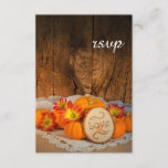 Rustic Pumpkins Fall Wedding RSVP Card