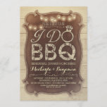 rustic vintage BBQ rehearsal dinner invitation