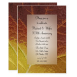 Shades of Autumn Leaf Wedding Anniversary Party Card