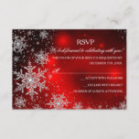Sparkle Snowflake Red Christmas Party RSVP