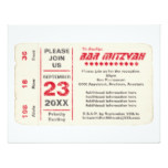 Sports Star Bar Mitzvah Reception Card, Red Card