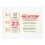 Sports Star Bar Mitzvah Save the Date Card, Red Card