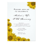Sunflower Edge Wedding Anniversary Party Invite