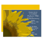 Sunflower Print Wedding Anniversary Party Invite