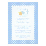 Sweet Baby Boy & Cross Holy Baptism Inviation Card